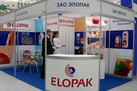 Exhibition Booth Decoration : Elopak exhibition stand decoration msk reklama